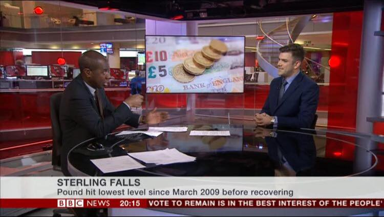 Jonathan speaking on BBC NEWS 24 in February