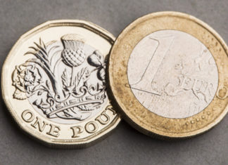 Will the Pound rise or fall versus the Euro in May?